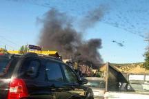 برخورد تریلر با 7 خودروی سواری در مسیر تهران – پردیس موجب آتش سوزی شد