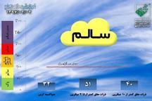 کیفیت هوای تهران با شاخص 51 در شرایط سالم قرار دارد
