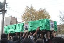 پیکر پاک شهید مدافع حرم قاسم رضایی در دلیجان تشییع شد