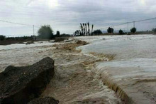 سیلاب یک مسیر فرعی در جنوب سیستان و بلوچستان را بست