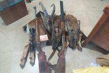 شکارچیان چهار راس کل و بز وحشی در البرز دستگیر شدند