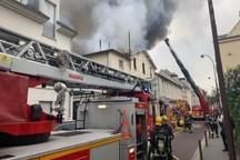 وقوع آتش سوزی مهیب در «ورسای» در غرب پاریس+عکس