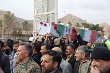 پیکر مطهر یک شهید پس از 35 سال در زادگاهش در شهرستان تفت تشییع شد