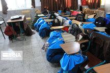 تمرین آمادگی در برابر زلزله در مدارس تبریز برگزار شد