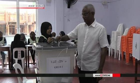 جشن پیروزی رهبر مخالفان دولت مالدیو در انتخابات+ تصاویر