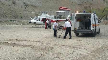 11 مصدوم در جاده کرج - چالوس   انتقال مصدومان با امدادهوایی