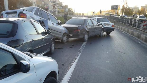 تصادف زنجیرهای در محور «تبریز-اهر» 4 مصدوم بر جای گذاشت