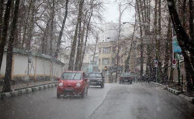 کاهش دما، بارش باران و برف در استان تهران پیش بینی می شود