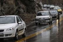 جاده های اصفهان بارانی است