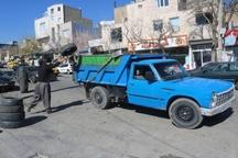 ضایعات و نخاله های ساختمانی سطح شهر سنندج جمع آوری شد