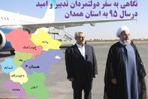 نگاهی به سفر دولتمردان تدبیر و امید در سال 95 به استان همدان