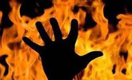 قتل مردی در میان شعله های آتش