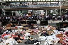 معترضان هنگ کنگ را کاملا فلج کردند+عکس