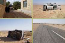 واژگونی خودرو در خوروبیابانک یک کشته برجا گذاشت
