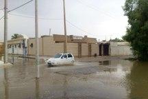 بارندگی در شهر ندوشن سبب آبگرفتگی معابر عمومی شد