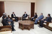 دیدار معاون ظریف با بشار اسد