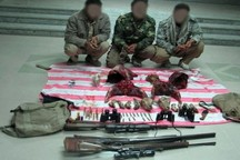 سه شکارچی غیرمجاز در خراسان جنوبی دستگیر شدند