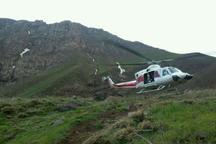 امداد هوایی البرز مصدوم روستایی را به بیمارستان انتقال داد