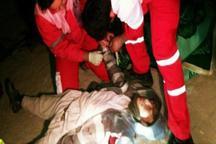 10شهروند خارجی در جاده مهریز- انار به علت واژگونی خودرو زخمی شدند