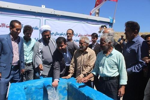 3 طرح آب و فاضلاب شهری و روستایی در ساردوییه جیرفت به بهره برداری رسید
