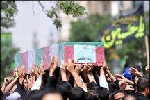 تشییع پیکر یک شهید گمنام در شهر یزد