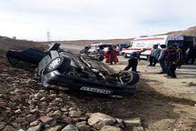 واژگونی خودرو در گلپایگان سه مصدوم برجا گذاشت