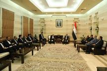 دیدار و گفتگوی ظریف با نخست وزیر سوریه
