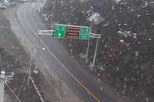 بارش برف بهاری ارتفاعات مازندران را سفید پوش کرد
