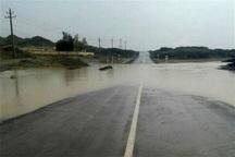 سیلاب مسیر تایباد به روستای دربند را بست