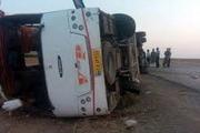 افزایش شمار جان باختگان واژگونی اتوبوس زائران مینابی  تعداد کشته شدگان به 6 نفر رسید