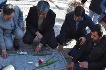 جامعه کارگری استان مرکزی قبورشهدای اراک را گلباران کردند
