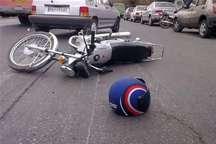 بی احتیاطی راکب موتورسیکلت در جیرفت منجر به فوت عابر پیاده شد