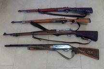 کشف و ضبط چهار قبضه سلاح شکاری در منطقه آوج