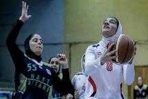 تیم بسکتبال بانوان قزوین از حریف بندرعباسی شکست خورد