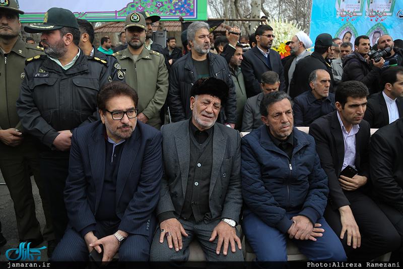 مراسم تشییع پیکر سه شهید نیروی انتظامی