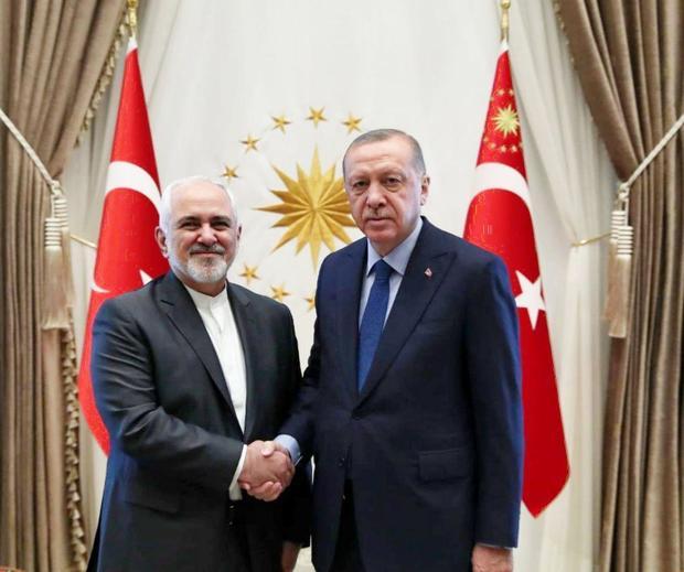 ظریف با اردوغان دیدار و گفت و گو کرد