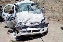 مصدوم شدن 3 دانش آموز هیرمندی در پی واژگونی خودروی سمند