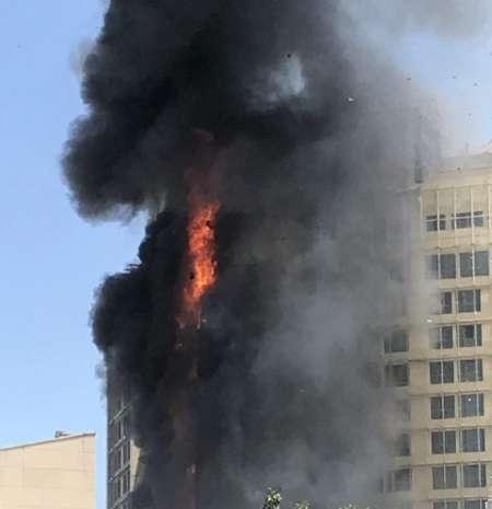 آتش سوزی یک واحد اقامتی در دست ساخت در مشهد