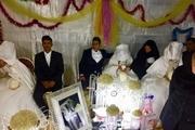 جشن ازدواج سه زوج جوان در اردوگاه سیل زدگان آبادان برگزارشد
