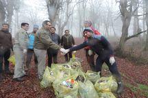 پاکسازی طبیعت جنگل قرن آباد گرگان از زباله
