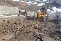 راه دسترسی روستای حسین آبادکالپوش  بازسازی شد