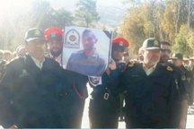 پیکر سرباز وظیفه ناجا در خرم آباد تشییع شد
