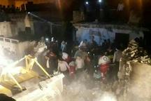 یک کشته بر اثر انفجار ساختمان مسکونی در شوشتر