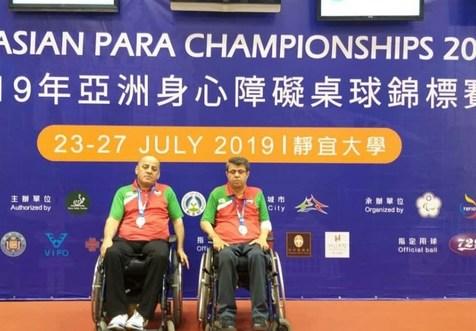 مدال نقره برای تیم تنیس روی میز ایران در رقابت های معلولان آسیا