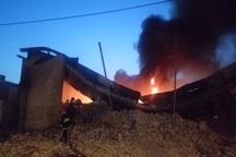 آتش سوزی انبار روغن اهواز یک کشته و 2 مصدوم برجای گذاشت