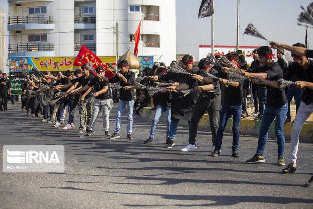 جوانان خوزستانی ارادت خود را به علمدار کربلا نشان دادند