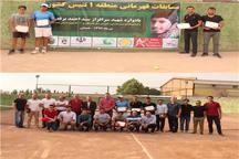 ورزشکار تهرانی قهرمان رقابت های تنیس منطقه ای کشور در همدان شد