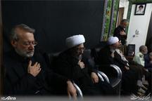 رئیس مجلس و رئیس قوه قضائیه در مراسم عزاداری تاسوعای حسینی