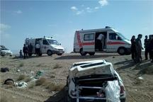 واژگونی خودرو پراید در بجستان سه مصدوم داشت