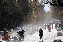 تند باد با سرعت 45 کیلومتر تهران را در نوردید